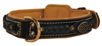 Dean's Legend Handmade Full-Grain and Nappa Leather Premium Quality Dog Collar
