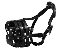 Leather Basket. Padded Muzzle