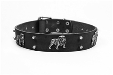 Bulldog's Day | Leather Dog Collar