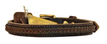 The Braid One | Leather Dog Collar