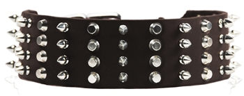 D&T 4 Row Combo | Spiked Dog Collar