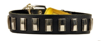 Silver Fire | Leather Dog Collar