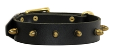 The Bullet | Leather Dog Collar
