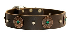 Dragon Eye | Leather Dog Collar