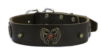 Dragon Heart | Leather Dog Collar