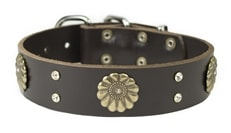 Fleur | Leather Dog Collar