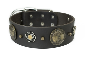 Gaia | Leather Dog Collar