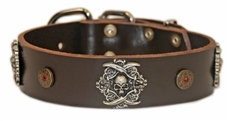 The Pirate | Leather Dog Collar