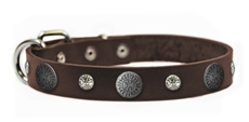 Crystal Beauty | Leather Dog Collar
