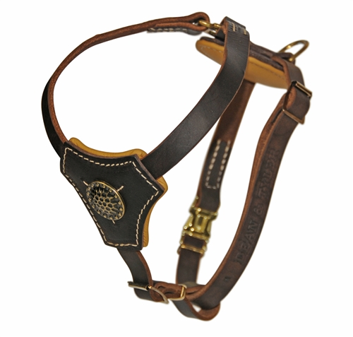 royal classic knight premium leather dog harness with nappa rh dtdogcollars com leather dog harnesses for small dogs leather dog harness medium