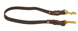 Braided Leather Bridge Handle