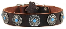 Queenie | Leather Dog Collar